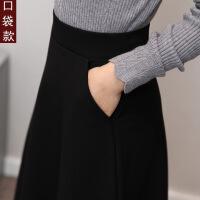 №【2019新款】冬天美女穿的冬天裙子女冬新款半身长裙高腰大摆半身裙中长款