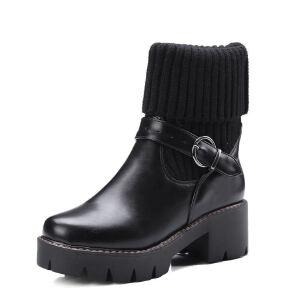 WARORWAR法国2019新品YG08-M88-3冬季欧美厚底女鞋潮流时尚潮鞋百搭潮牌靴子马丁靴短靴
