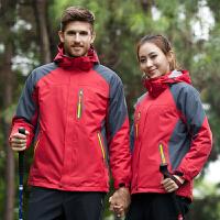 户外冲锋衣男女两件套三合一防水透气登山服衣裤套装