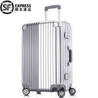 拉杆箱万向轮玫瑰金旅行登机20结婚箱子陪嫁行李箱铝框女26
