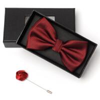 黑色酒红色领结新郎伴郎服领结男结婚婚礼英伦韩版正装西装礼服领结