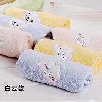 棉小毛巾正方形棉柔软四方儿童洗脸家用小方巾小面巾吸水Cn 34x34cm