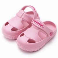 夏季1-3岁儿童洞洞鞋女宝宝防滑室内凉拖鞋男童婴幼儿可爱小公主