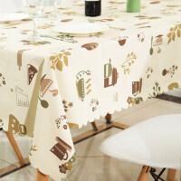 桌布防水防烫防油免洗餐桌布ins风茶几桌布pvc欧式棉麻小清新布艺