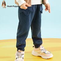 【秒杀价:80元】暇步士童装冬季新款男小童加绒长裤时尚保暖舒适一体绒长裤儿童加绒长裤(80-130)