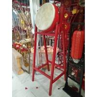 新款婚庆道具用品结婚红色中式打鼓装饰摆件落地木架中国战鼓堂鼓