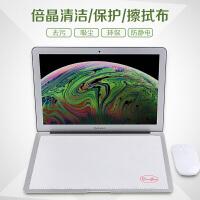 苹果笔记本键盘膜盖布air13英寸防尘罩Pro13.3屏幕擦布2018新款macbook11英寸大号