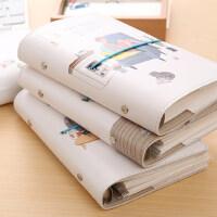 韩国可爱活页手账小清新本创意绑带笔记本子文具手帐手绘日记本