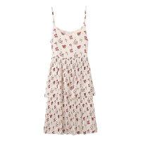 【1件2.5折到手价:57.3】美特斯邦威夏季女休闲吊带印花连衣裙