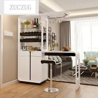 ZUCZUG现代简约家用客厅烤漆吧台酒柜屏风间厅柜屏风玄关隔断柜靠墙吧台 框架结构 组装