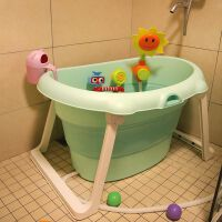 加大号儿童可折叠浴盆洗澡桶宝宝浴桶可坐躺婴儿洗澡盆小孩