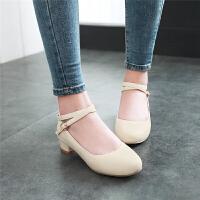 韩版小主持公主鞋白色舞蹈鞋黑色女童皮鞋粗跟单鞋儿童礼服高跟鞋SN7082
