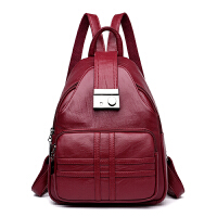 女士双肩包女包韩版时尚简约休闲软皮防盗旅行小背包
