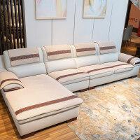 欧式真皮沙发防滑垫真皮沙发垫防滑四季通用坐垫子欧式简约客厅组合布艺沙发套罩定做