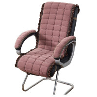 椅子连体坐垫靠垫一体办公室加厚电脑老板椅垫凳子座垫屁股垫子冬
