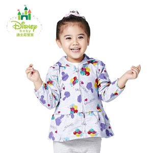 迪士尼Disney童装女童T恤纯棉女宝宝上衣连帽衫外出服春秋款163S824