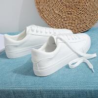 2018冬季新款休闲韩版棉鞋秋季小白鞋女百搭学生春季鞋子帆布板鞋 白色 纯洁白