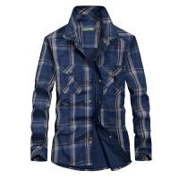 Afs Jeep/战地吉普长袖衬衫春秋季男装衬衫纯棉大码工装上衣8001