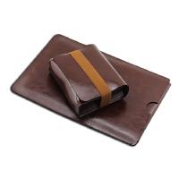 hp惠普probook 440 g3 G4 G5笔记本电脑包内胆包14英寸保护袋皮套 鼠标款 路易棕2件 14寸