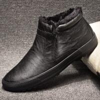 男鞋冬季潮鞋加绒棉靴高帮保暖防滑休闲鞋防水雪地靴切尔西靴短靴