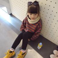 条纹套头卫衣 18韩版童装秋冬装儿童加厚抓绒百搭上衣外套B9-S24