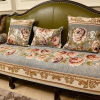美式沙发垫防滑布艺欧式真皮123组合客厅套四季通用坐垫定做
