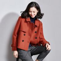 梵希蔓秋冬毛呢外套短款修身新款韩版呢子大衣