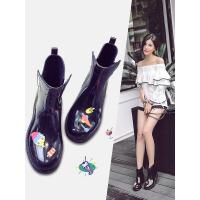 时尚中筒女士马丁雨靴保暖加绒低帮雨鞋女生防滑水鞋韩版套鞋胶鞋 jt8