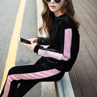 春秋季运动套装女韩版学生学院风时尚潮秋装卫衣宽松两件套