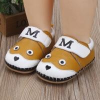 春季新款卡通婴儿单鞋0-1岁软底宝宝学步鞋 牛皮缝制防滑男女童鞋
