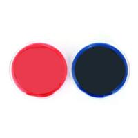 盖章财务印泥印台印油 晨光AYZ97512 红蓝双色可选速快干印(透明圆) 红色