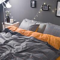 床上四件套棉1.8m床简约北欧床单被套2.0米床双人床品家纺