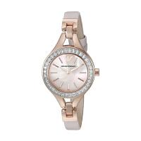 阿玛尼(Emporio Armani)手表皮质表带女士休闲时尚石英表女士腕表AR7413