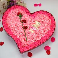 情人节礼物女生老婆女友创意生日浪漫礼品肥皂花玫瑰香皂花礼盒