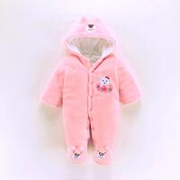 婴儿连体衣服秋冬季0-1岁棉哈衣保暖冬款男女宝宝0-3月棉爬服
