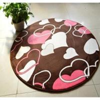 圆形地毯地垫门垫健身瑜伽地垫电脑椅子垫地垫地毯防滑地毯 咖啡心(圆形)