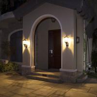 太阳能壁灯家用户外太阳能灯室外灯墙壁灯别墅防水庭院灯花园路灯n8g