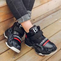 男童棉鞋秋冬新款休闲鞋加绒中大男童保暖韩版时尚百搭软底运动鞋