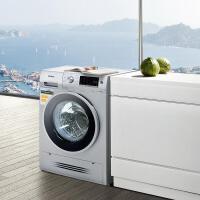 西门子 滚筒洗衣机 7.5公斤洗涤4KG烘干 洗烘一体机 银色 WD14H4681W