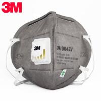 3M 口罩9042V带呼吸阀含活性炭过滤有机气体喷漆异味防毒除味口罩 防雾霾