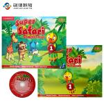 Super Safari 1级别学生用书+练习册+DVD-ROM 原版进口剑桥幼儿英语教材套装