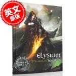 现货 达尔肯艺术画册设定集 英文原版 Elysium: The Art of Darken 精装 by Mike Li