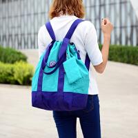 2018新款女士双肩包旅游旅行背包尼龙轻便户外时尚休闲书包防水