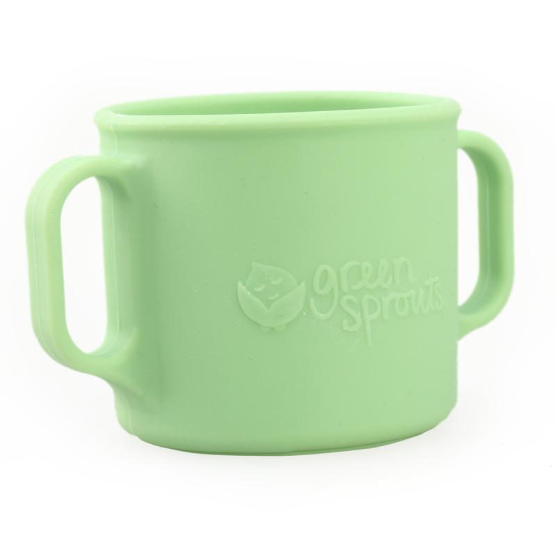 美国green sprouts小绿芽儿童水杯幼儿园喝水杯饮水杯不锈钢宝宝