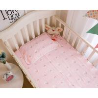 婴儿纱布床单纯棉加厚宝宝床床单儿童盖毯浴巾新生儿秋冬床上用品