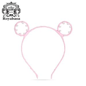 皇家莎莎韩国头饰品发箍兔耳朵简约可爱甜美头箍发饰森女成人发卡