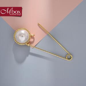 新年礼物Mbox胸针 女款韩国版采用精选贝珍珠气质胸针胸花领针 华沙流年