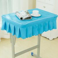 小学生桌布教室课桌套学校课桌布40×60天蓝色书桌套绿色学生桌罩