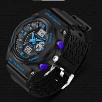 三达韩国男士爆款双显防震运动登山防水电子表LED夜光多功能手表