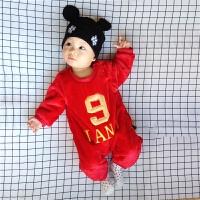 婴儿连体衣服0岁3个月女宝宝新生儿秋冬装冬季女棉衣哈衣秋季秋装